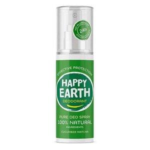 Happy Earth Pure Deo Spray Cucumber Matcha 100ml