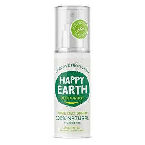 Happy Earth Pure Deo Spray Unscented 100ml