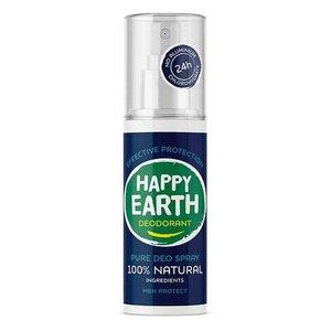 Happy Earth Pure Deo Spray Men Protect 100ml