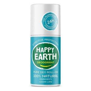 Happy Earth Pure Deo Roll-On Cedar Lime 75ml