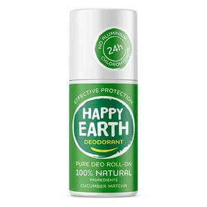 Happy Earth Pure Deo Roll-On Cucumber Matcha 75ml