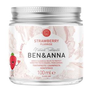 BEN&ANNA Kids Toothpaste Strawberry with Fluoride 100ml
