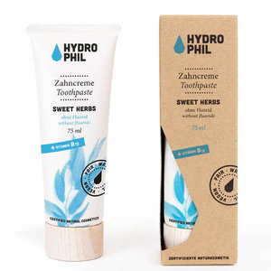 Hydrophil Tandpasta Sweet Herbs zonder Fluoride 75ml