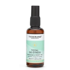 Tisserand Total De-Stress Massage & Body Oil 100ml