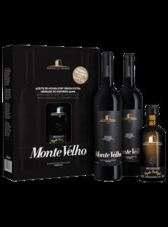 Monte Velho 2 flessen Tinto en Olijfolie Extra Virgin