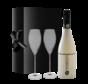 Black & Bianco Prosecco met glazen - 21%