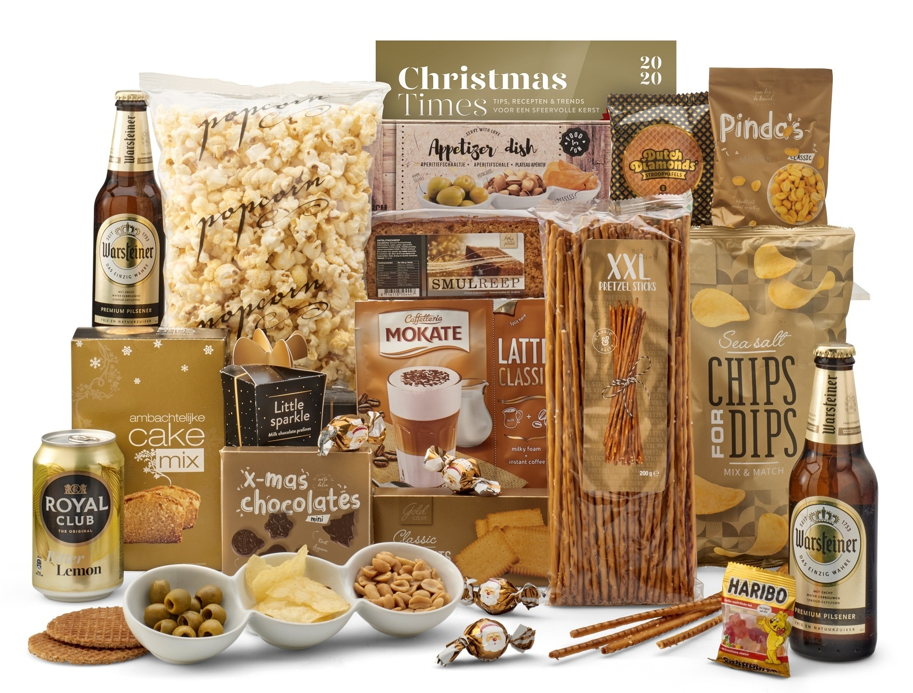 Kerstpakket Heerlijk gouds - 9% BTW