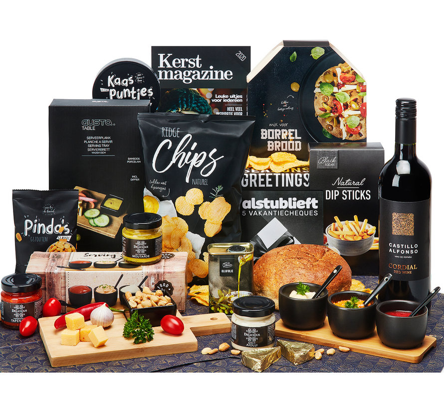 Kerstpakket Italiaanse borrel - 21% BTW