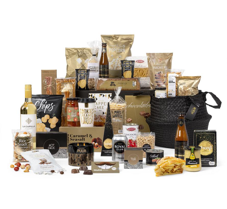 Kerstpakket Zwart goud