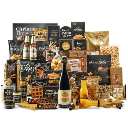Kerstpakketten vol met snacks