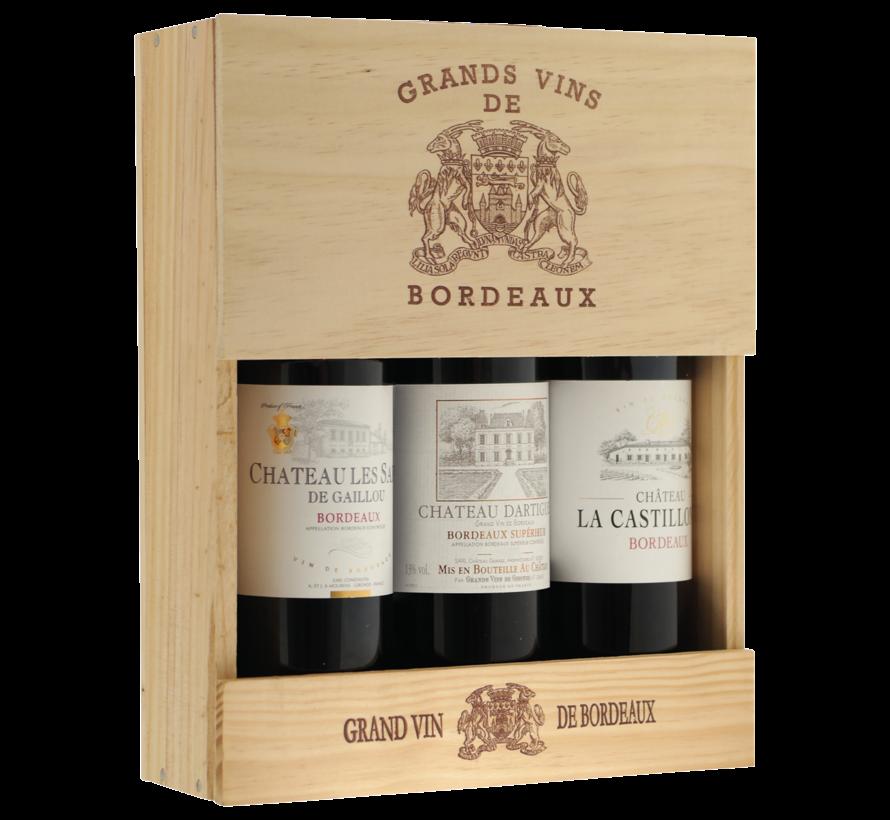 Bordeaux Sélection Médailles 3 flessen in kist
