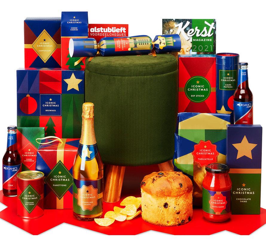 Kerstpakket Poef vol lekkers - 9% BTW