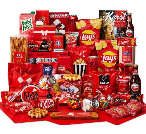 Kerstpakket hand in een snoeppot - 21% BTW
