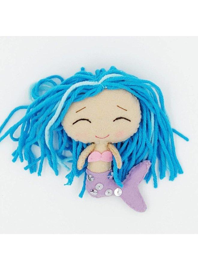 Blaue Meerjungfrau Glückspuppe