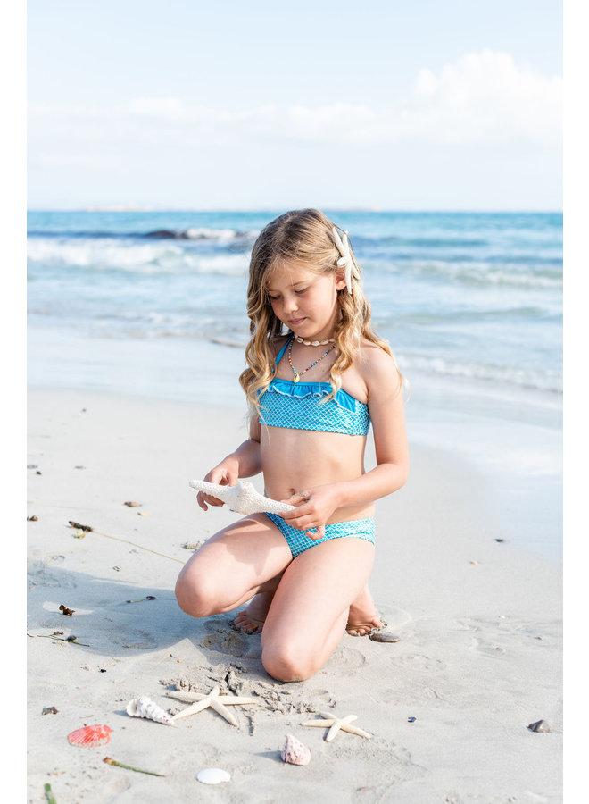 Glänzender Baby Blau Bikini