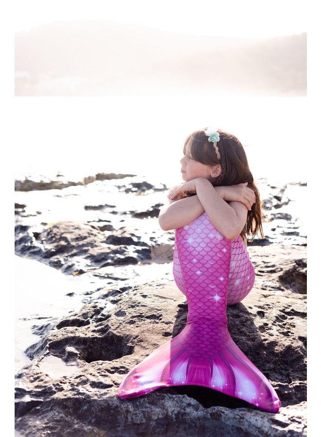 Rosa Perfektion Meerjungfrau schwanz