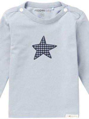 Noppies Noppies - baby Jongens longsleeve Monsieur Grey blue