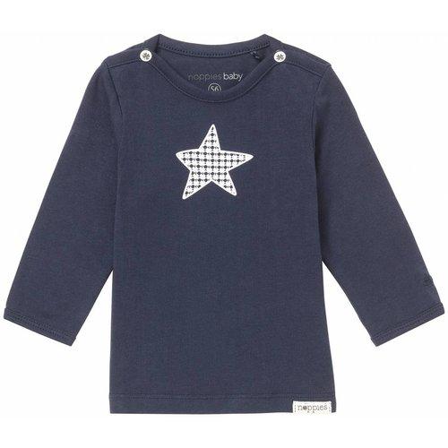 Noppies Noppies - baby Jongens longsleeve Monsieur donker blauw