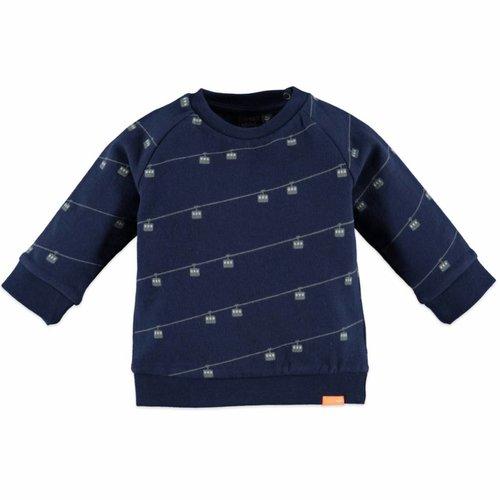 Babyface Babyface baby jongens sweater donkerblauw