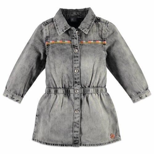 Babyface Babyface meisjes denim jurk denim grijs