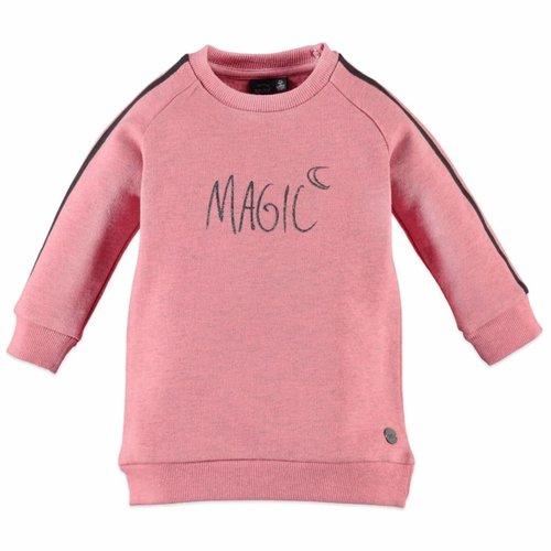 Babyface Babyface meisjes sweat jurk zacht roze