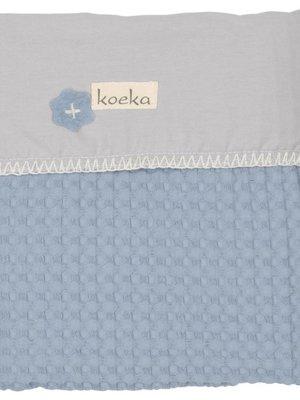Koeka Koeka wiegdeken antwerp flanel soft blue
