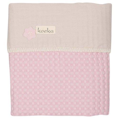 Koeka Koeka ledikantdeken antwerp flanel licht roze