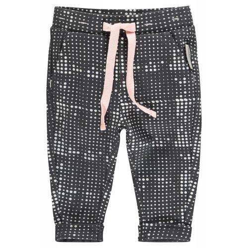 Noppies Noppies - Baby meisjes broek slim-fit Woberly donker grijs