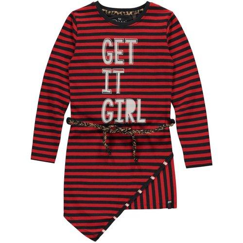 Quapi Meisjes jurk rood Leona Quapi