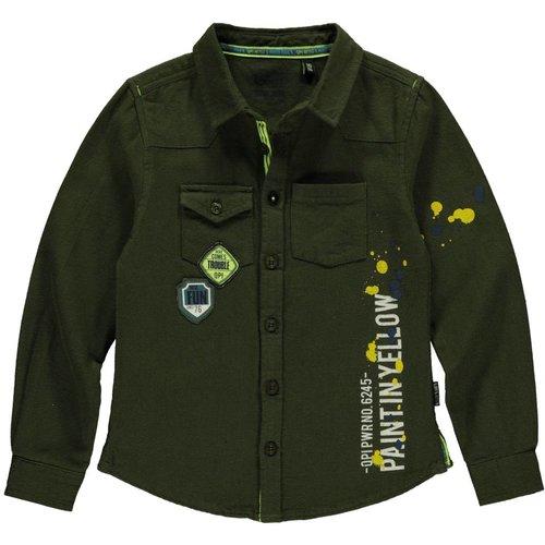 Quapi Jongens t-shirt donker groen Louis Quapi