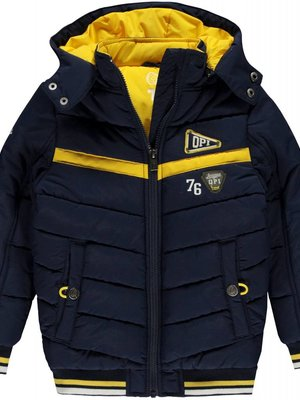 Quapi Jongens winterjas donker blauw Luciano Quapi