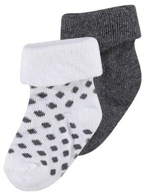 Noppies Noppies - sokken Dot donker grijs