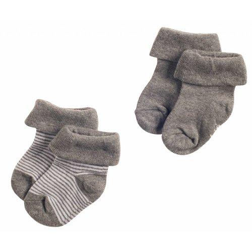 Noppies Noppies - baby Jongens sokken 2-pack Guzzi antraciet