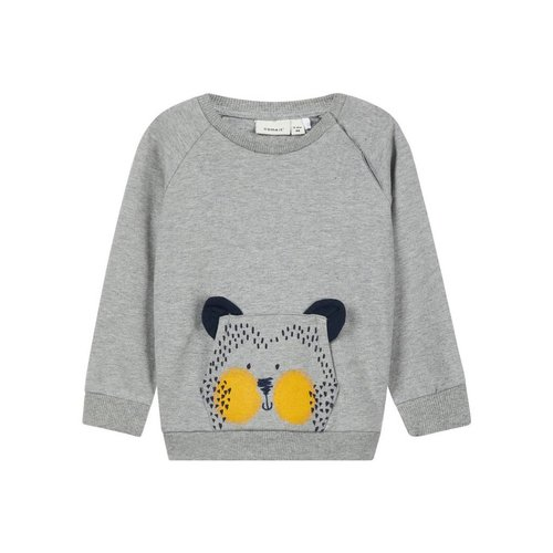 Name-it Name-it Baby sweater NBMLAUST Grey Melange