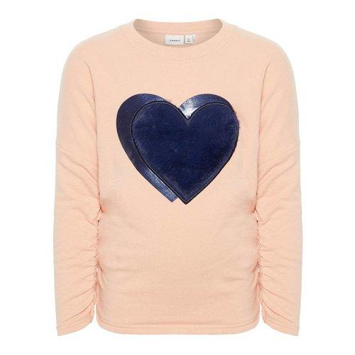 Name-it Name-it meisjes sweater NMFOLGINE z.roze