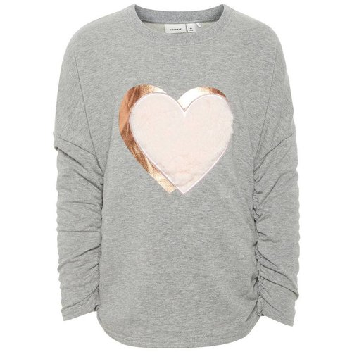 Name-it Name-it meisjes sweater NMFOLGINE grijls melee