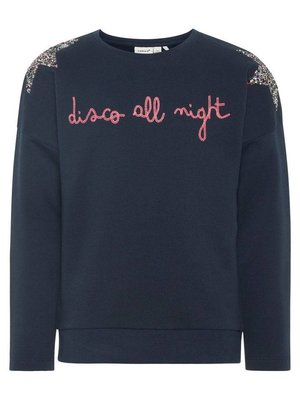 Name-it Name-it meisjes sweater NKFRIKKELS d.blauw
