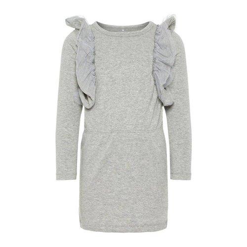 Name-it NMFRASHIMMER LS DRESS SLIM Grey Melange
