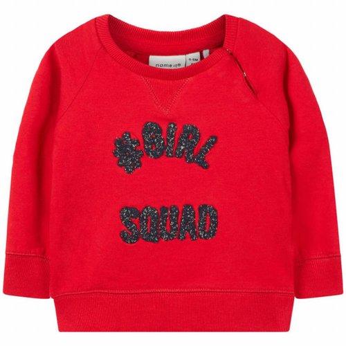 Name-it Name-it baby sweater NBFNETTA rood