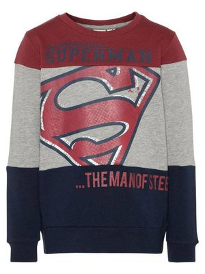 Name-it Name-it jongens sweater NKMSUPERHERO d.blauw