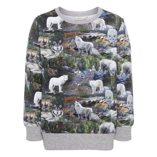 Name-it Name-it jongens  sweater NMMKASIAL grijs