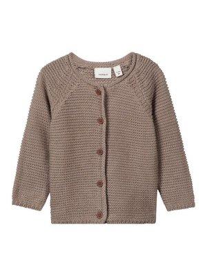 Name-it Name-it baby vestje NBNUSOREL bruin