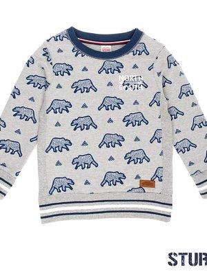 Sturdy Jongens sweater aop grijs Sturdy