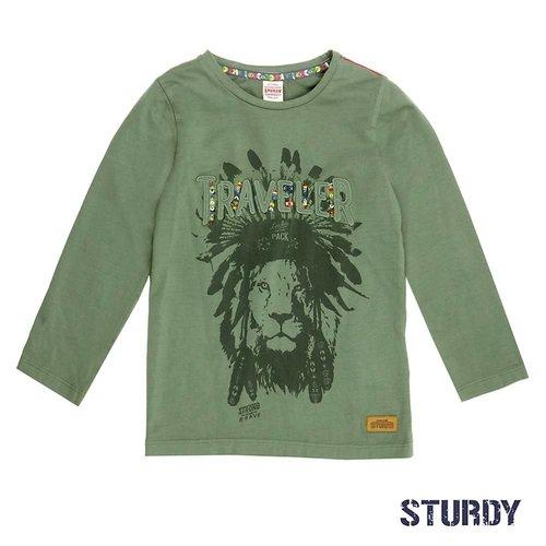 Sturdy Jongens longsleeve leger groen Sturdy
