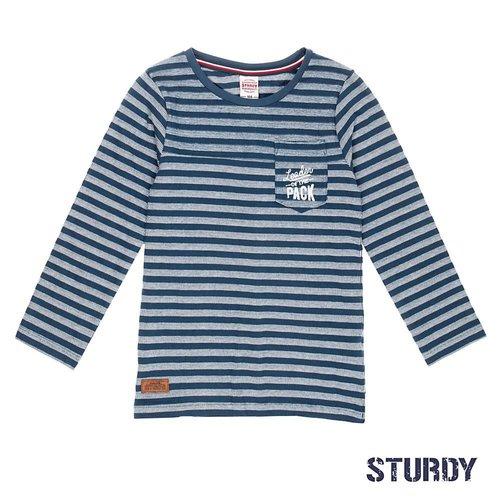Sturdy Jongens longsleeve aop blauw Sturdy