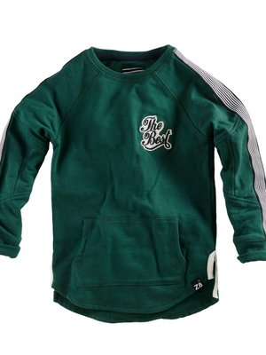 Z8 Z8 - Jongens sweater donker groen Brodie