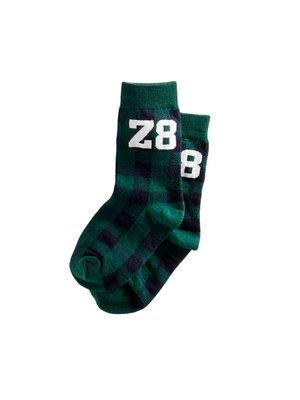 Z8 Z8 - Jongens sokken donker groen Bosse