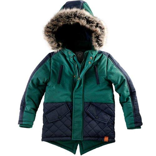 Z8 Z8 - Jongens winterjas donker groen Benja