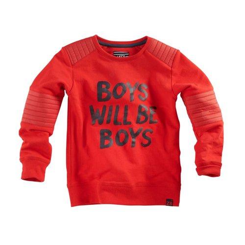 Z8 Z8 - Jongens sweater rood Basilis
