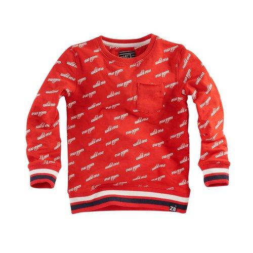 Z8 Z8 - Jongens sweater rood Balthazar